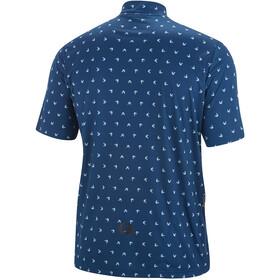 Gonso Peio Fietsshirt Korte Mouwen Halve Rits Heren, blauw